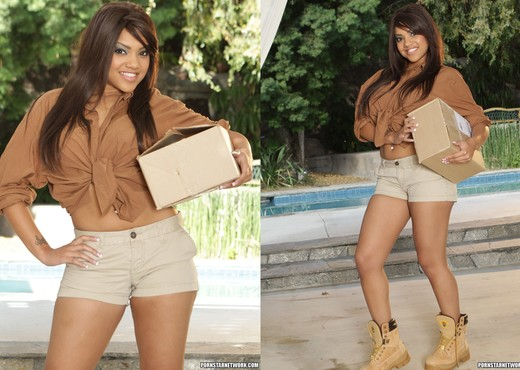 Catalina Taylor - Packages and Boxes - Interracial Sexy Photo Gallery