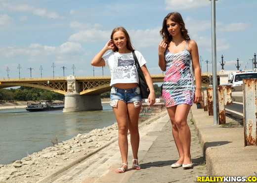 Katarina Muti, Lily G - Tour Guide - Euro Sex Parties - Hardcore TGP