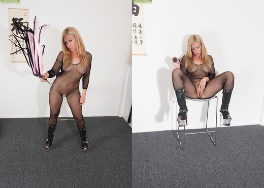 Stevie Lix - bodystocking milf with a whip - MILF Picture Gallery
