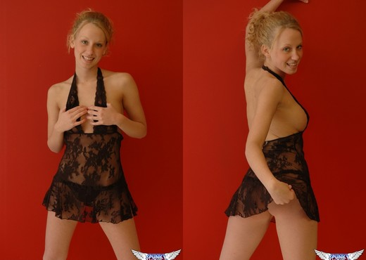 Lucky - A Lil Black Lace - SpunkyAngels - Solo HD Gallery