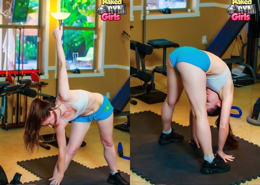 Really Working It - Annabelle Lee - Naked Gym Girls - Solo Sexy Photo Gallery