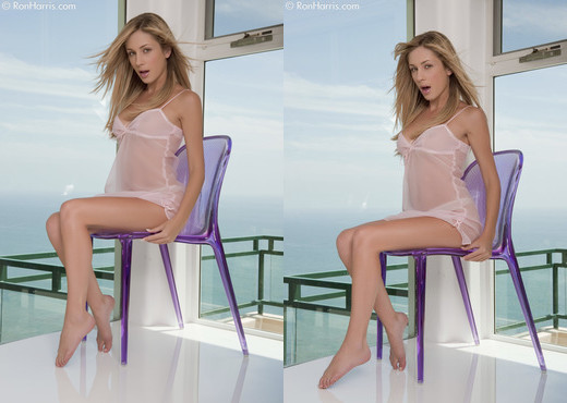 Julia Crown - Lavender Chair - Solo Porn Gallery