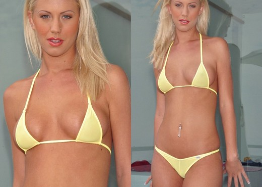 Tanya James - Yellow Bikini - Solo Sexy Gallery