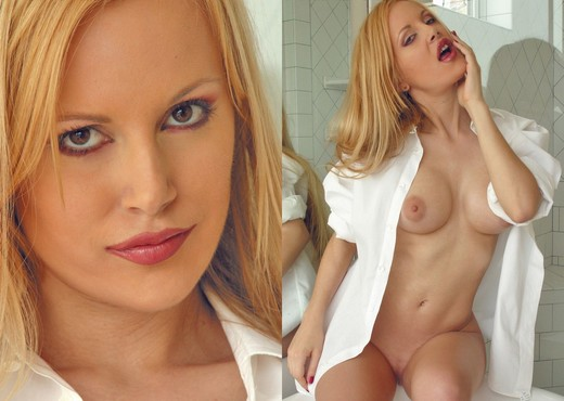 Samantha - White Shirt - Solo Picture Gallery