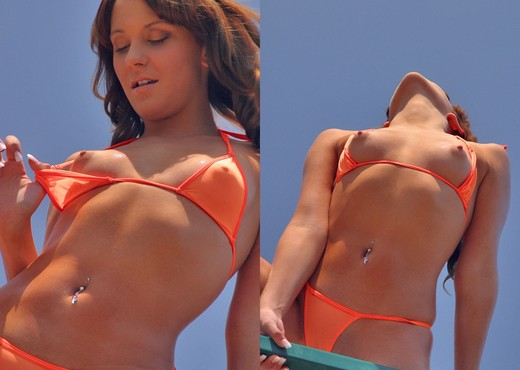 Kinzie Kenner - Orange Bikini - Solo Hot Gallery