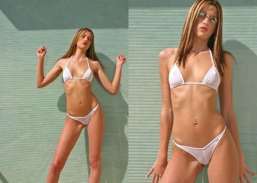 Naudia - White Bikini - Solo Picture Gallery