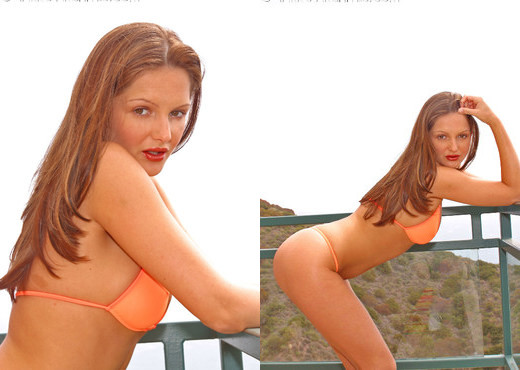Sandra Shine - Orange Bikini - Solo Image Gallery