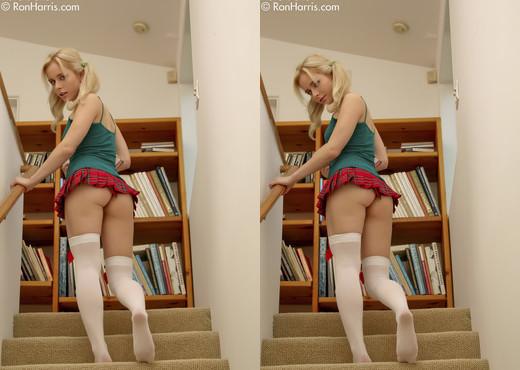 Sweet coed Kara Duhe in her skimpy skirt - Solo TGP