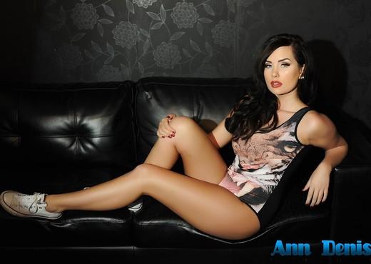 Ann Denise teasing in her animal print bodysuit on the - Solo HD Gallery