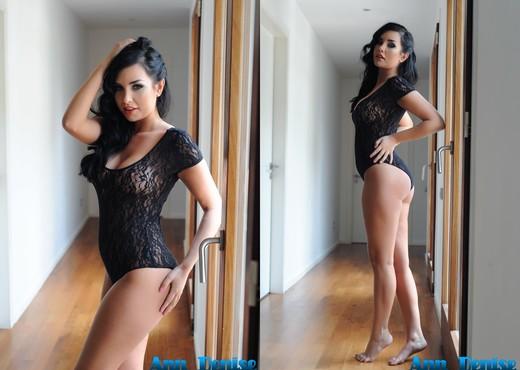 Ann seduces us in her black sheer bodysuit - Solo Hot Gallery
