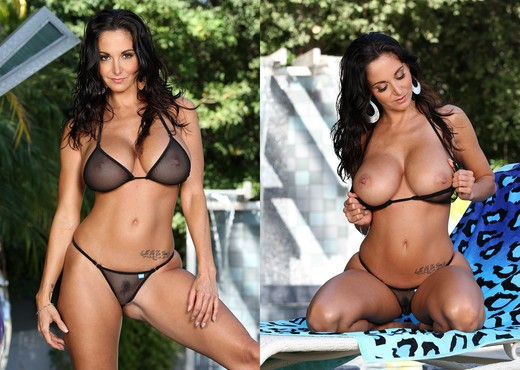 Ava Addams - Black Fishnet G-string - Solo Sexy Gallery