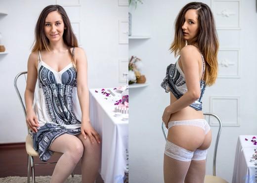 Sabrine - stockings & pussy - Teen Image Gallery