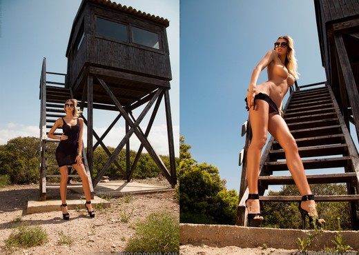 Claudia - Lookout Tower - PhotoDromm - Solo Sexy Photo Gallery
