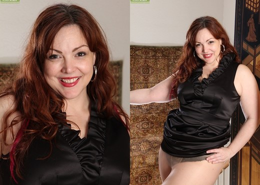 Ember Rayne - chubby mom getting naked - MILF Image Gallery