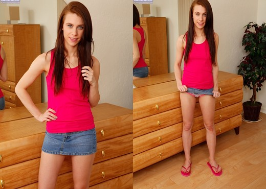 Anya Olsen - tall teen getting naked - Solo Picture Gallery