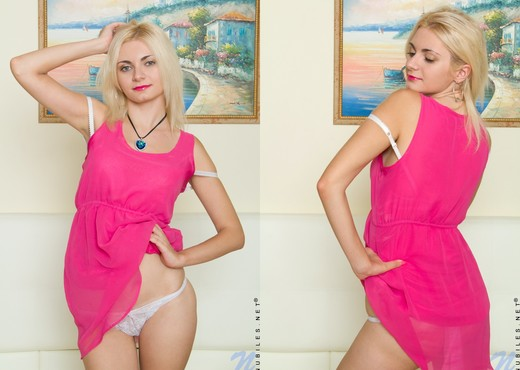 Milana Little - blonde playing with her vibrator - Teen Sexy Photo Gallery