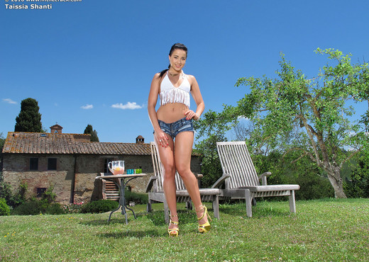 Taissia Shanti - playing with her vibe outdoors - Pornstars Nude Pics