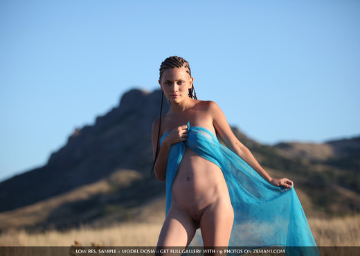 Mountain sunset - Dosia - Solo Nude Pics