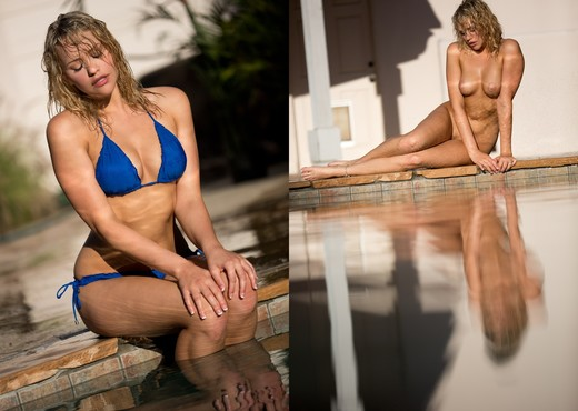 Mia Malkova Goes For A Dip In The Pool - Solo HD Gallery