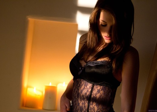 Kiera Winters Undresses Herself In A Candle-Lit Room - Solo Nude Gallery