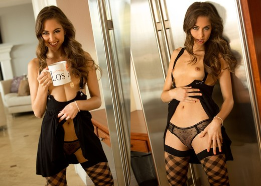 Riley Reid Sips Her Morning Tea - Solo Sexy Gallery