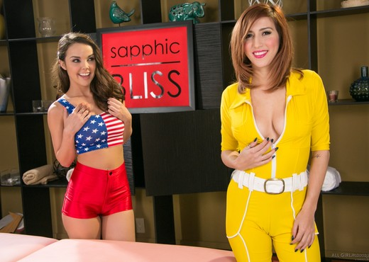 April O'Neil, Dillion Harper - Super Girls - Lesbian Hot Gallery