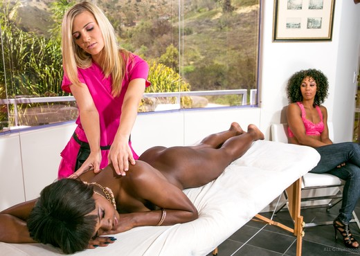 Amanda Tate, Ana Foxxx, Misty Stone - This Spa Has Secrets - Lesbian HD Gallery