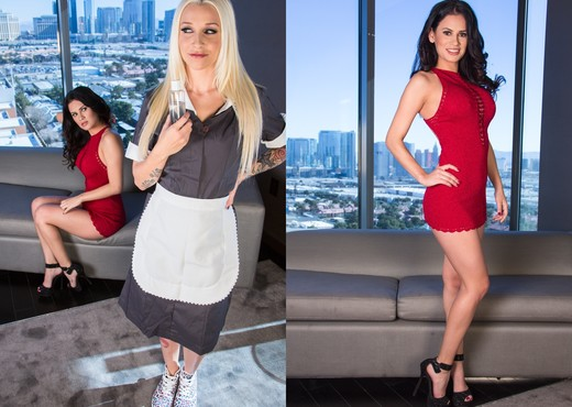 Vanessa Veracruz, Stevie Shae - The Meddling Maid - Lesbian Porn Gallery