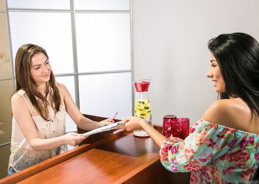 Megan's First Massage - Lesbian Porn Gallery