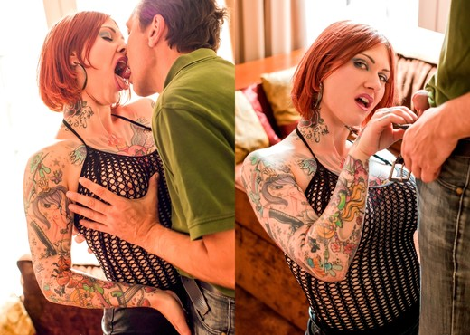 Tallulah, Steve Holmes - Spunk On My Tattoo - Hardcore Sexy Photo Gallery