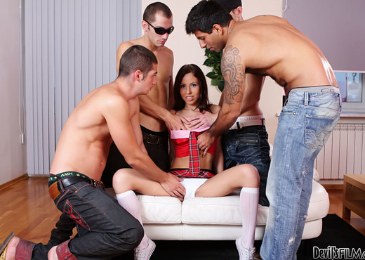 Abbey B, Carlos Bazuca - University Gang Bang #03 - Hardcore Nude Gallery