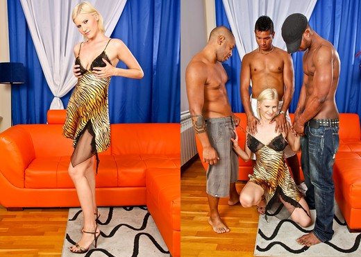 Kim A - GangLand Cream Pie #20 - Interracial Nude Pics