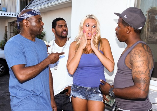 Katie Summers, Rico Strong - GangLand Super Gang Bang #04 - Interracial Nude Pics
