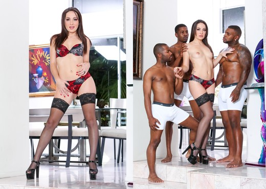 Marley Blaze, Rico Strong - Blacked Out - Interracial Porn Gallery