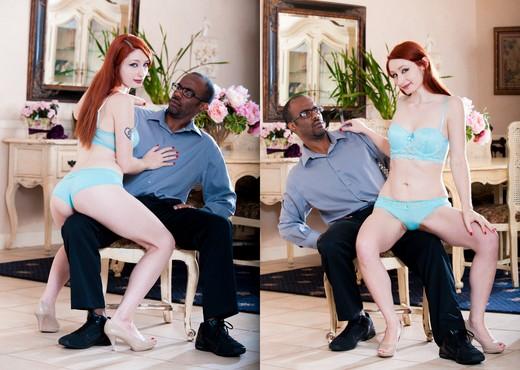 Violet Monroe - My New Black Stepdaddy #19 - Interracial Sexy Photo Gallery