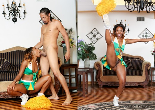 Chanell Heart, Dsnoop - Chocolate Cheerleader Camp #03 - Ebony Nude Gallery