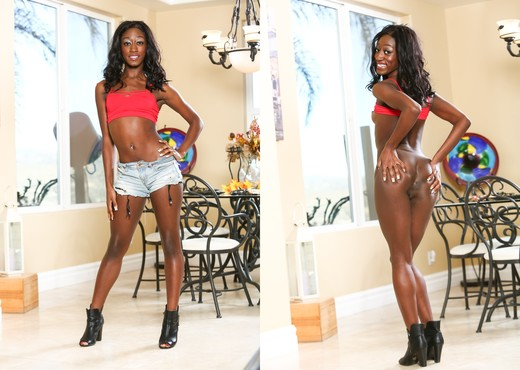 Monica Rae - My New White Stepdaddy #13 - Ebony TGP