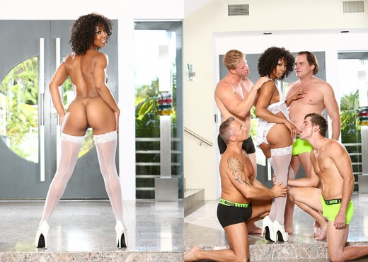 Misty Stone, Marcus London - White Out #02 - Ebony Hot Gallery