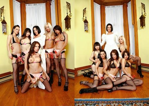 Girly Gang Bang #10 - Lesbian Image Gallery