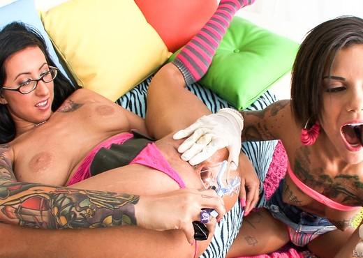 Bonnie Rotten, Lily Lane - Tattooed Anal Sluts - Anal Image Gallery