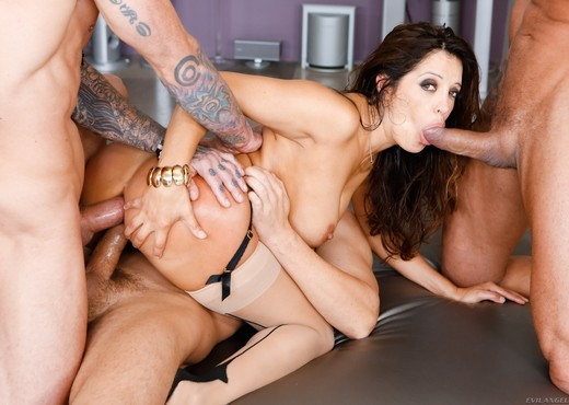 Francesca Le - LeWood Gangbang: Battle Of The MILFs - Hardcore Nude Gallery