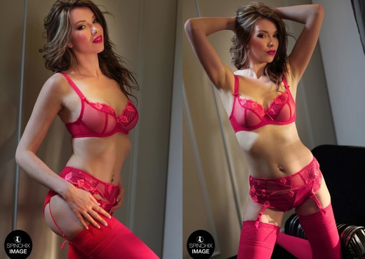Nicky's Red lingerie romance - Spinchix - Solo Image Gallery