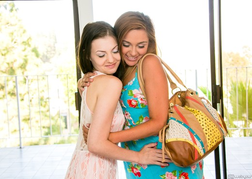 Zoey Foxx, Alexis Venton - LoveDice - Girlsway - Lesbian Picture Gallery