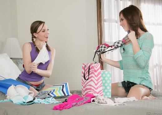 Emma Stoned, Aubrey Star - Bra Shopping - Girlsway - Lesbian Image Gallery