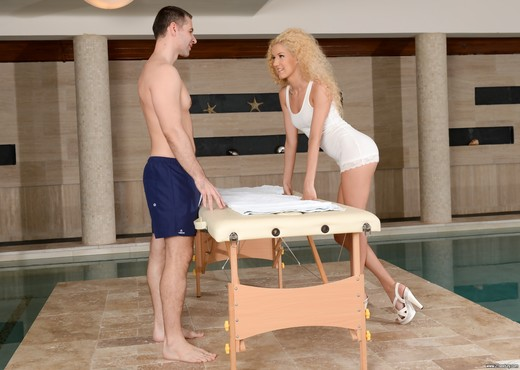 Monique Woods - Poolside Full-Body Massage - 21Sextury - Hardcore Image Gallery