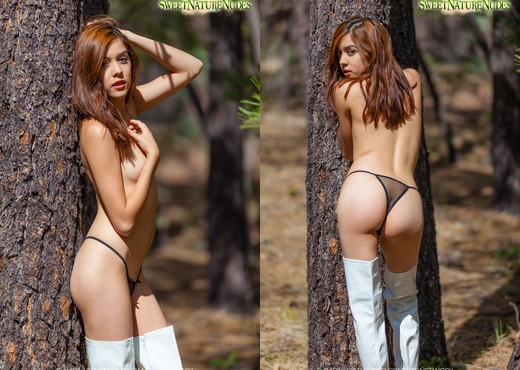 Boots in the Forest - Kristina Bell - Sweet Nature Nudes - Solo Nude Gallery