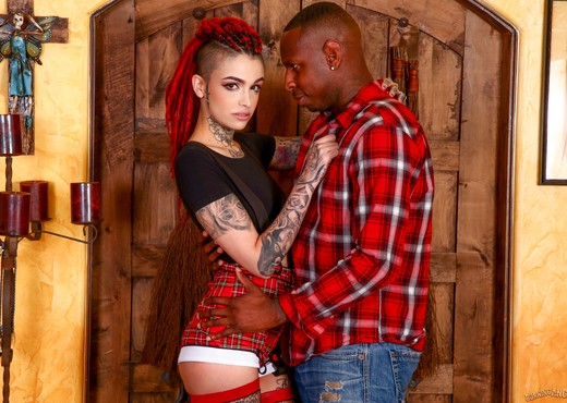 Leigh Raven - Lessons In Black Cock - Burning Angel - Interracial TGP