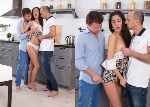 Skinny Teen Katty West Drowns in Cum During Hot Trio - Hardcore Porn Gallery