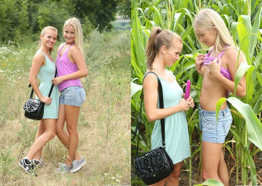 Fucking in The Woods With Lesbians Bella Baby & Cayla Lyons - Lesbian Image Gallery