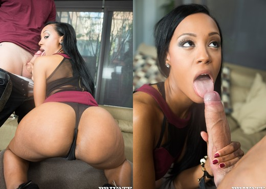 Bubble Butt Ebony Noemilk Takes Two Huge Cocks - Private - Ebony TGP